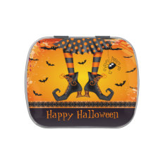 Funny Whimsical Witch Legs Halloween Party Favor Candy Tins at Zazzle