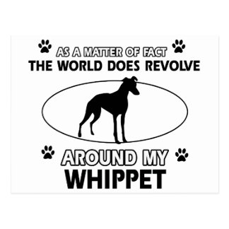 Funny whippet designs post cards