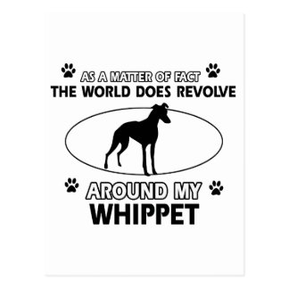 Funny whippet designs postcards