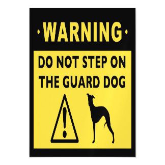Funny Whippet Guard Dog Warning Magnetic Card