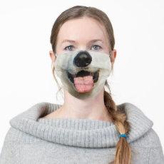 Funny White Dog Muzzle Cloth Face Mask