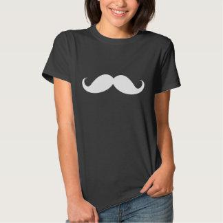 Funny white handlebar mustache moustache trendy t-shirts