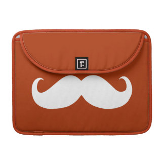 Funny White Mustache 11 Sleeve For MacBook Pro