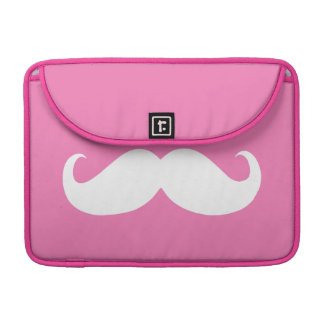 Funny White Mustache 12 Sleeve For MacBooks
