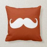 Funny White Mustache 14 Throw Pillow