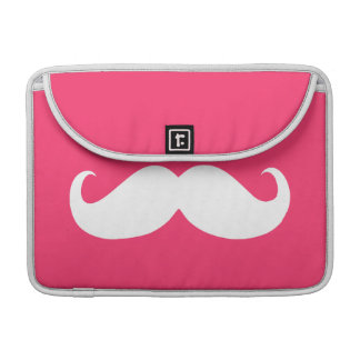 Funny White Mustache 15 Sleeve For MacBook Pro