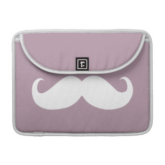 Funny White Mustache 16 MacBook Pro Sleeve