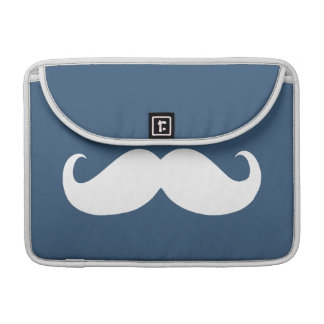 Funny White Mustache 17 Sleeve For MacBook Pro