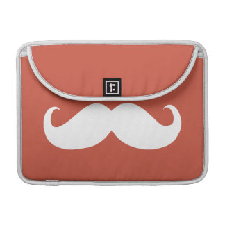 Funny White Mustache 18 Sleeve For MacBooks