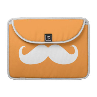 Funny White Mustache 20 Sleeve For MacBook Pro