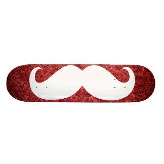 Funny white mustache 21 skateboard