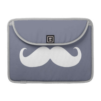 Funny White Mustache 21 Sleeve For MacBooks