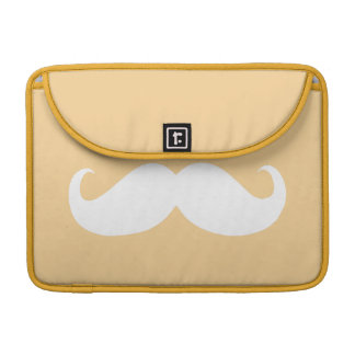 Funny White Mustache 22 MacBook Pro Sleeve