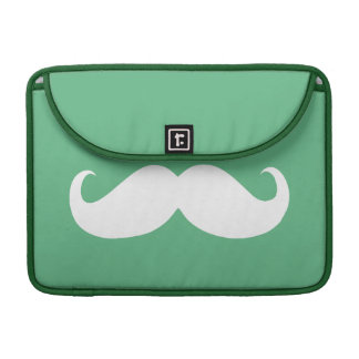 Funny White Mustache 25 Sleeve For MacBook Pro