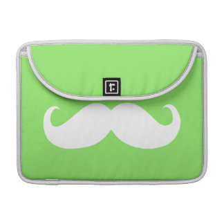 Funny White Mustache 28 Sleeve For MacBook Pro