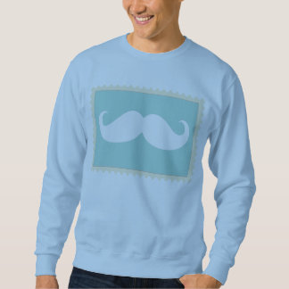 Funny White Mustache 2 Pull Over Sweatshirt