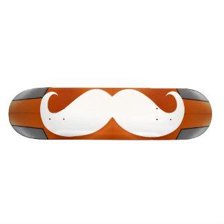 Funny white mustache 2 skateboard deck