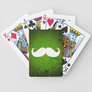 Funny White Mustache 3 Bicycle Playing Cards