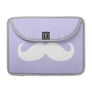 Funny White Mustache 3 MacBook Pro Sleeve