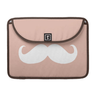 Funny White Mustache 3 Sleeve For MacBook Pro