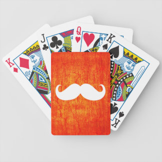 Funny White Mustache 4 Bicycle Playing Cards