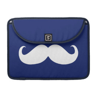 Funny White Mustache 4 MacBook Pro Sleeve