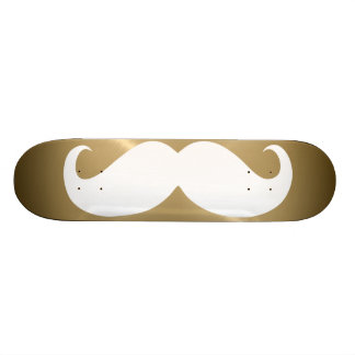Funny white mustache 4 skateboard deck