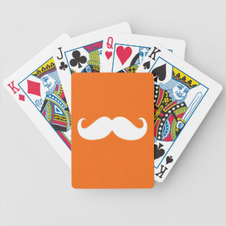 Funny White Mustache 6 Bicycle Playing Cards