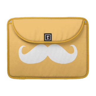 Funny White Mustache 6 MacBook Pro Sleeve