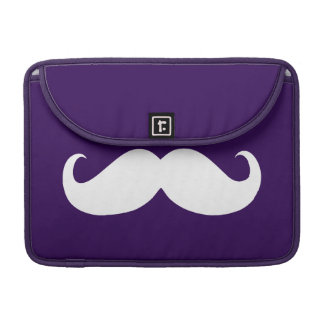 Funny White Mustache 7 Sleeve For MacBooks