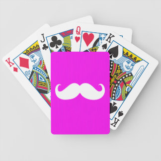 Funny White Mustache 8 Bicycle Playing Cards