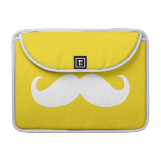 Funny White Mustache 8 Sleeve For MacBook Pro