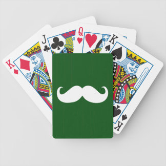 Funny White Mustache 9 Bicycle Playing Cards