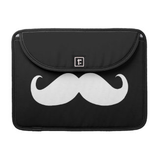 Funny White Mustache Sleeve For MacBook Pro