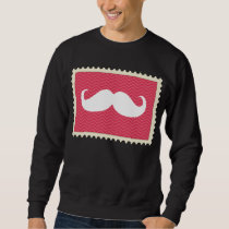 Funny White Mustache Sweatshirt