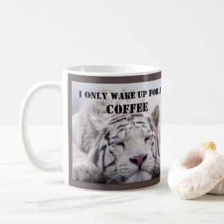 Funny White Tiger Big Cat Mug
