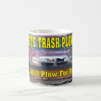 Funny White Trash Plowing Will Plow For Beer Coffee Mug