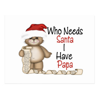Funny Who Needs Santa Papa Postcard