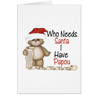 Funny Who Needs Santa Papou Card