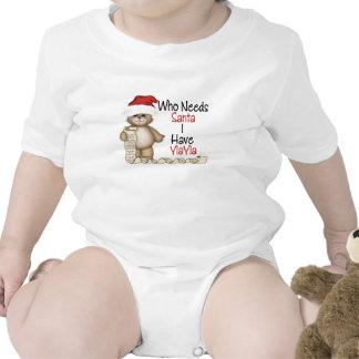 Funny Who Needs Santa Yiayia Baby Bodysuit
