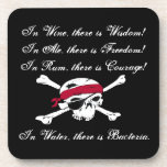Funny Why Pirates Drink Rum Coaster