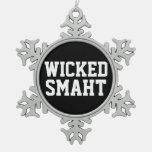 Funny Wicked Smart Smaht Boston Accent Ornaments