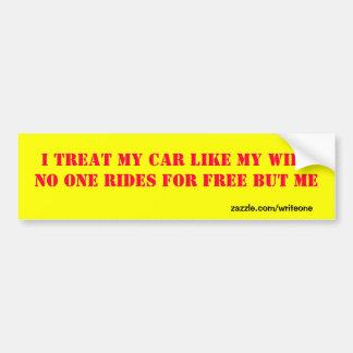 Funny wife bumper sticker bumper stickers