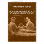 Funny wife Christmas Greeting Card
