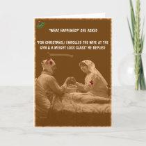 Funny wife Christmas Holiday Card