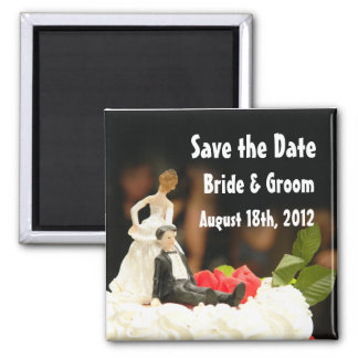 Funny Wife Dragging Husband Save the Date Magnet