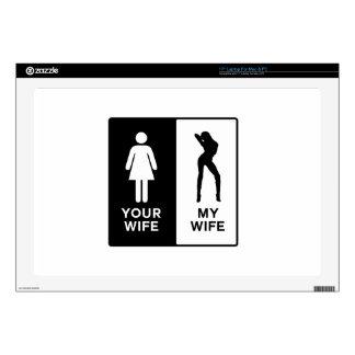 Funny Wife Laptop Skin