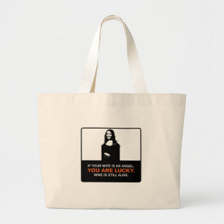 Funny Wife Large Tote Bag