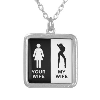 Funny Wife Silver Plated Necklace