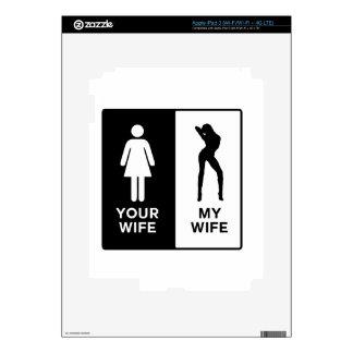 Funny Wife Skin For iPad 3